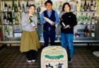 石岡酒造の蔵元・蔵人の女性二人とサケレコ