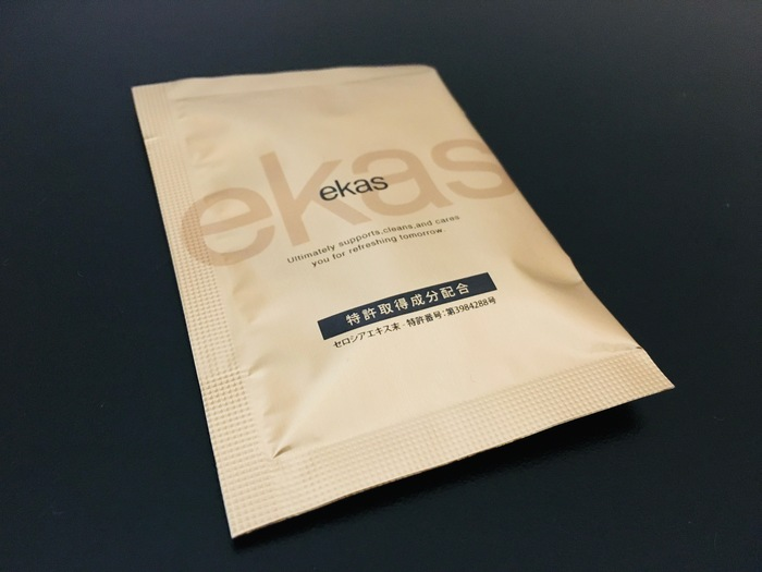 二日酔い防止サプリ「エカス」の袋