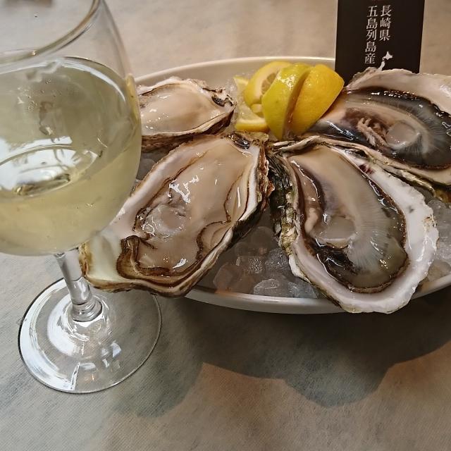 白ワインと牡蠣